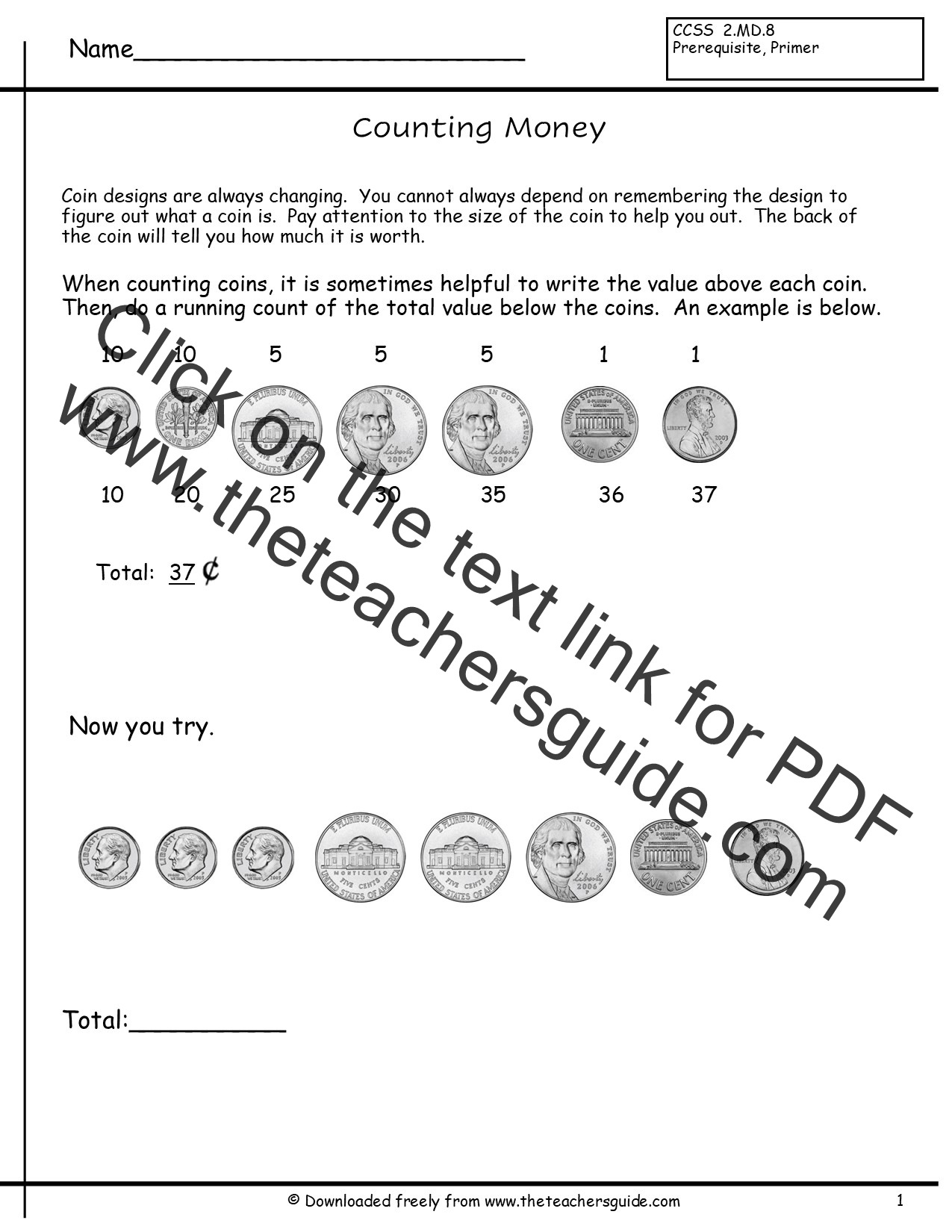Worksheet United States Coins