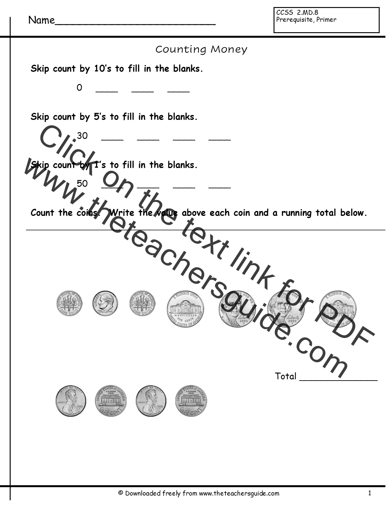 Penny Worksheet Education