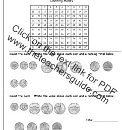 Counting Dollars Worksheet   Printable Worksheets and Activities for  Teachers [ 1650 x 1275 Pixel ]