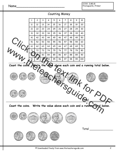 small resolution of Counting Dollars Worksheet   Printable Worksheets and Activities for  Teachers