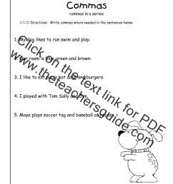32 Commas In A Series Worksheet 1st Grade - Worksheet Resource Plans [ 1584 x 1224 Pixel ]