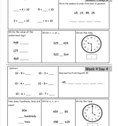 Free 2nd Grade Daily Math Worksheets [ 1650 x 1275 Pixel ]