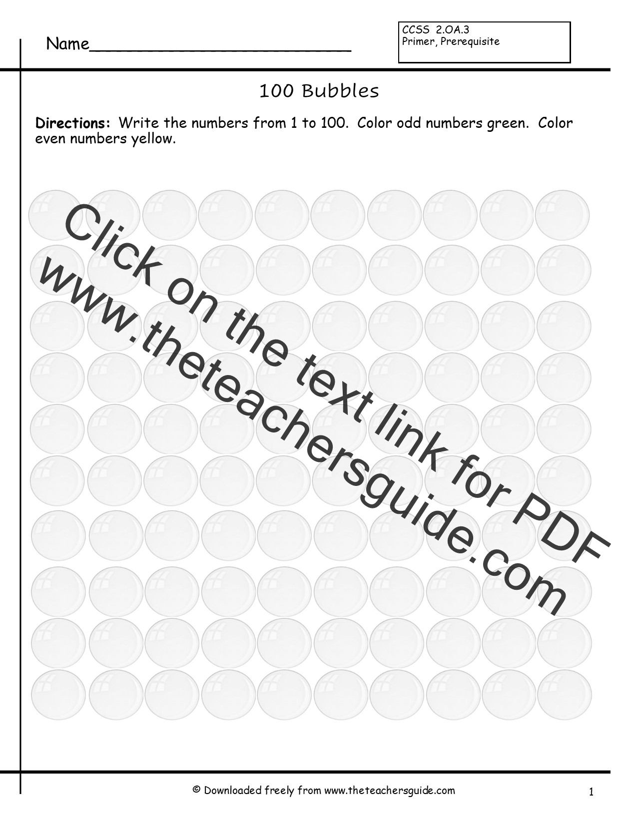 Even and Odd Numbers Worksheets from The Teacher's Guide