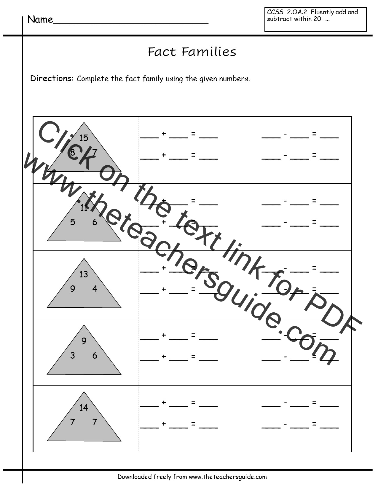 Worksheet Multiplication Fact Families Grass Fedjp Worksheet Study Site