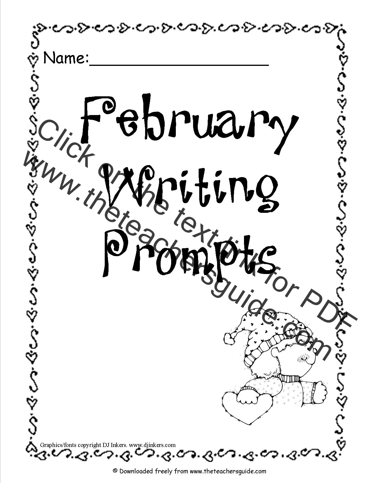 February Printable Worksheets Page 1
