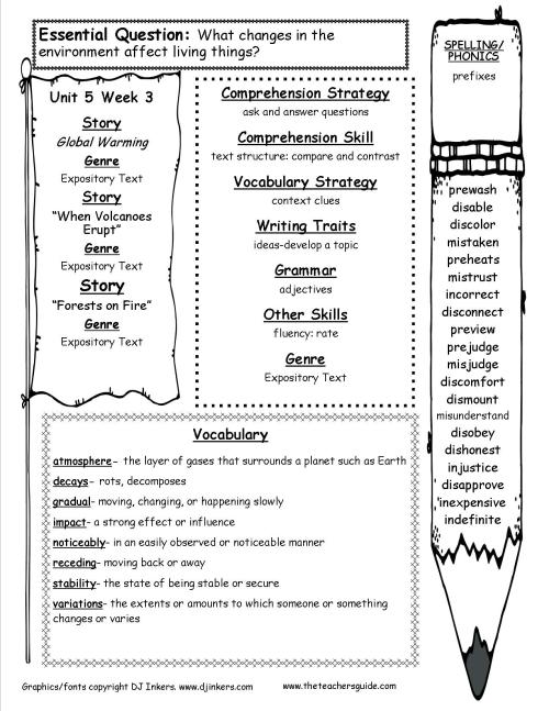 small resolution of McGraw-Hill Wonders Fifth Grade Resources and Printouts