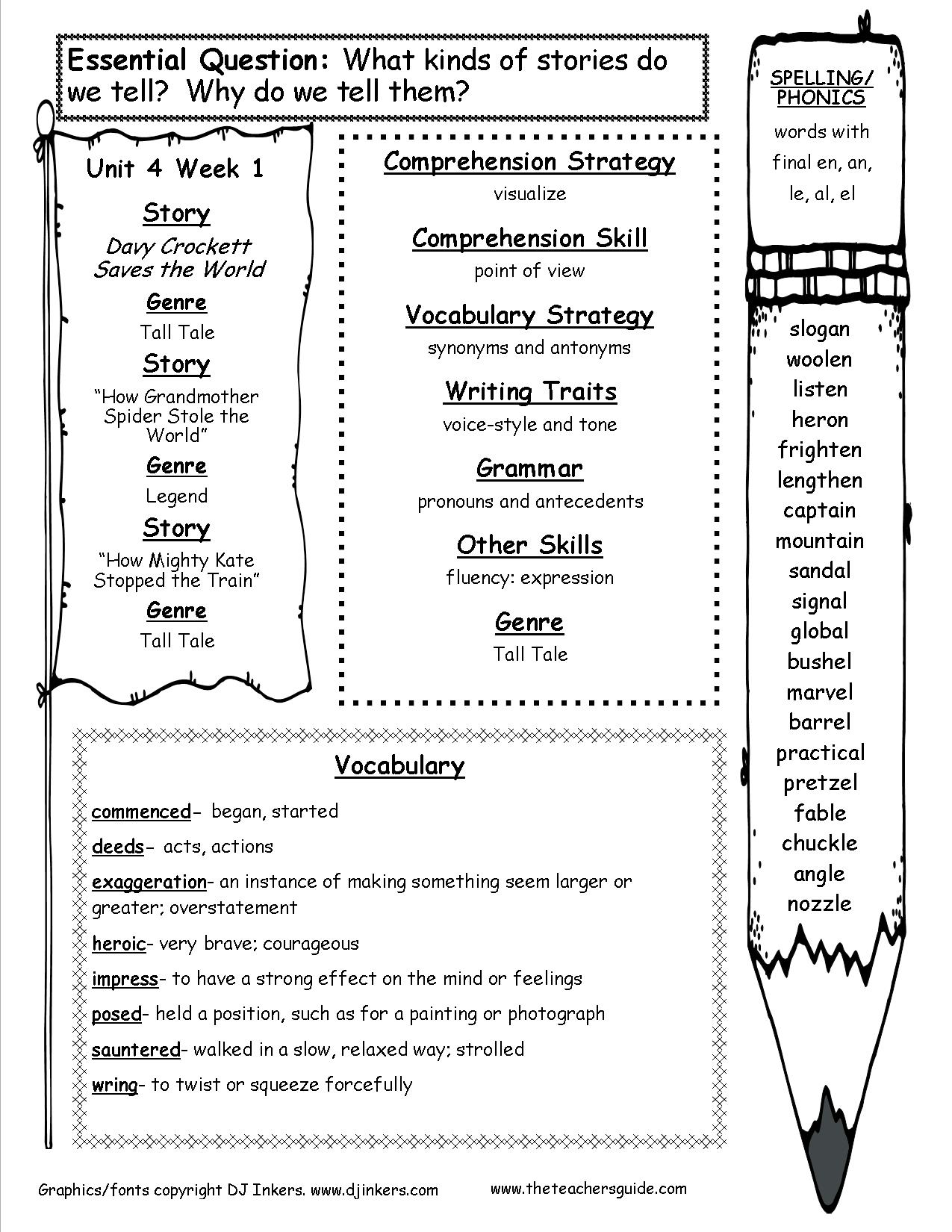 hight resolution of McGraw-Hill Wonders Fifth Grade Resources and Printouts