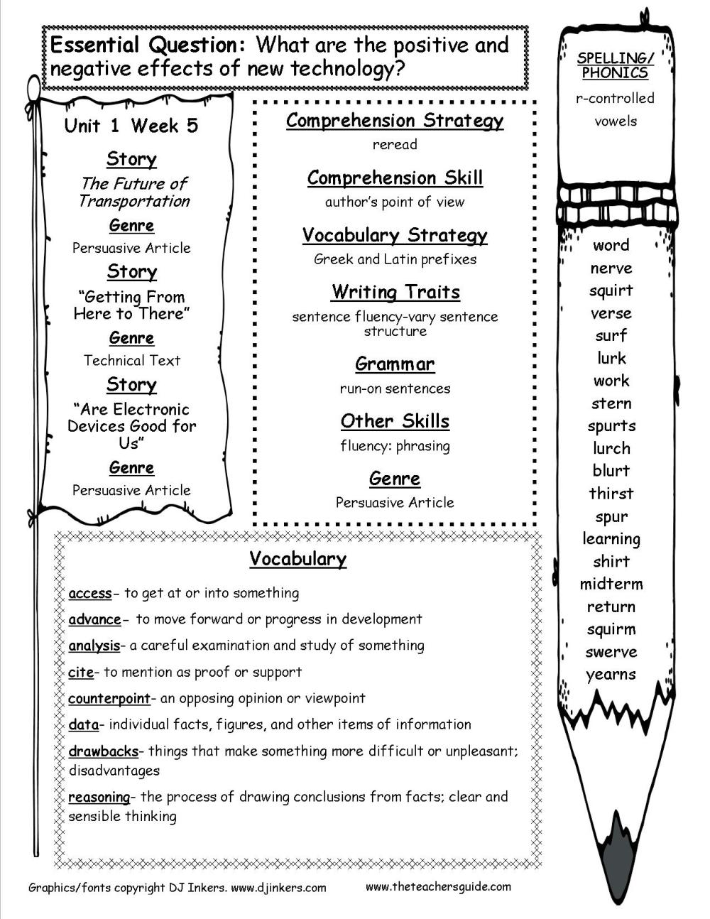 medium resolution of McGraw-Hill Wonders Fifth Grade Resources and Printouts