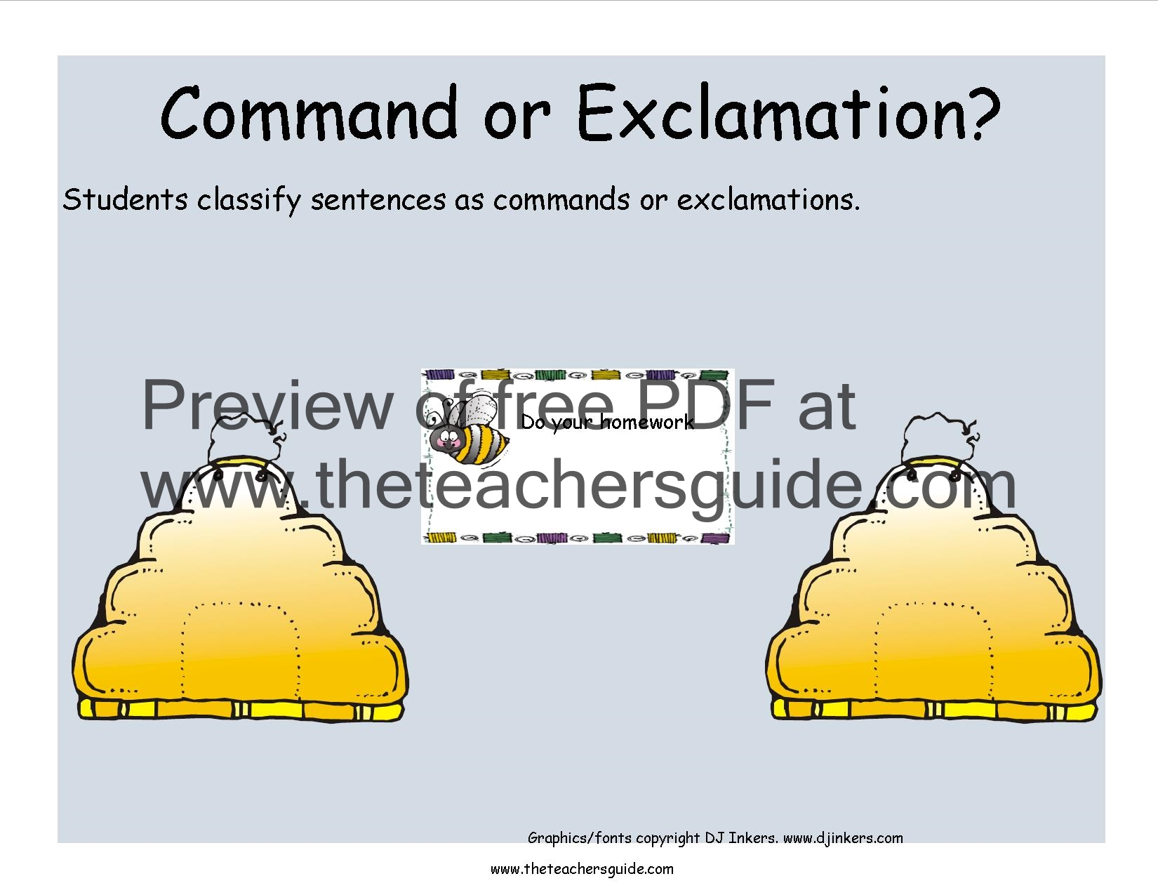 1st Grade Exclamatory Sentences Worksheets