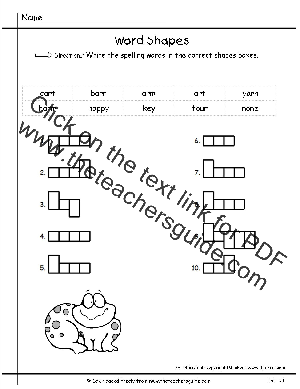 Wonders First Grade Unit Four Week Five Printouts