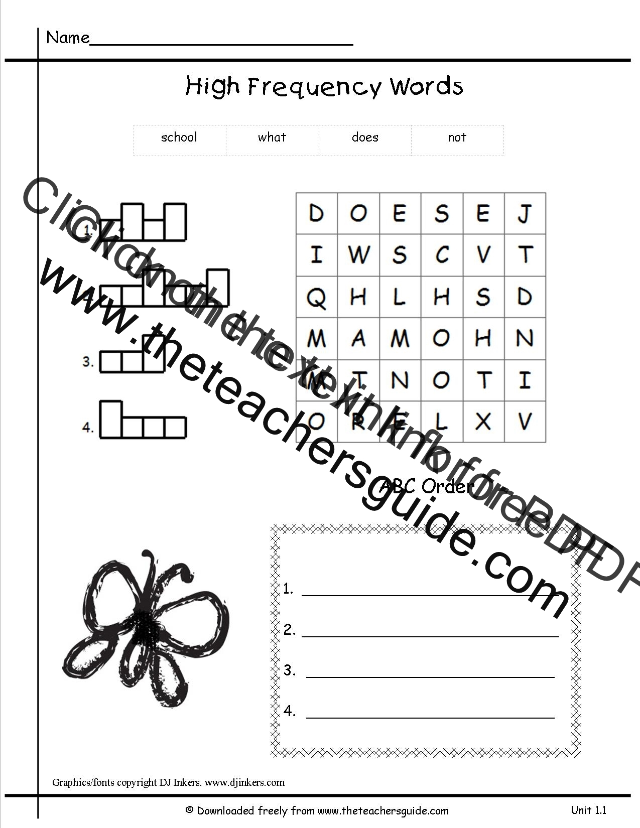 Wonders First Grade Unit One Week One Printouts