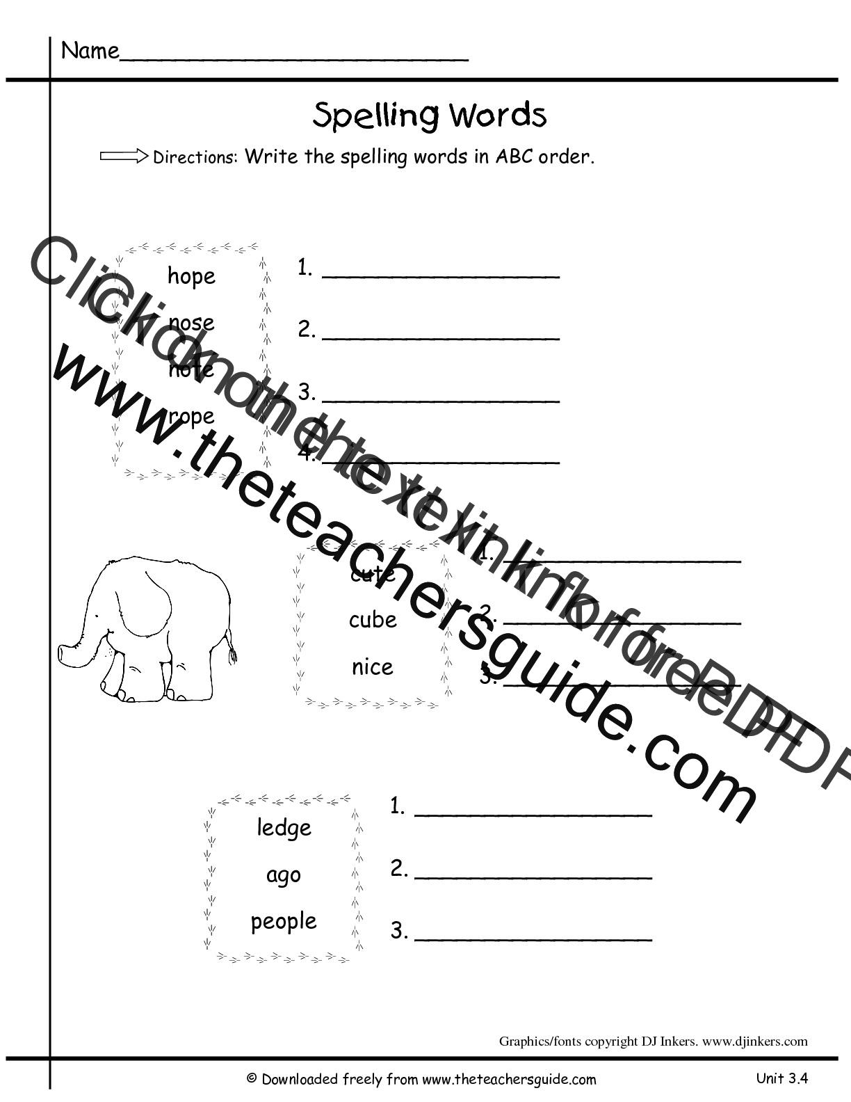 Wonders First Grade Unit Three Week Four Printouts