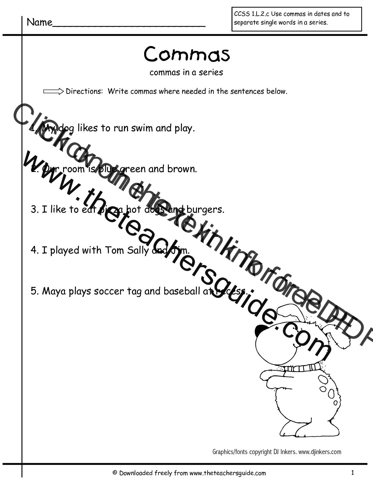 worksheet Comma Splice Worksheet worksheet comma practice worksheets thedanks for everyone grammar commas in a series first grade free worksheets