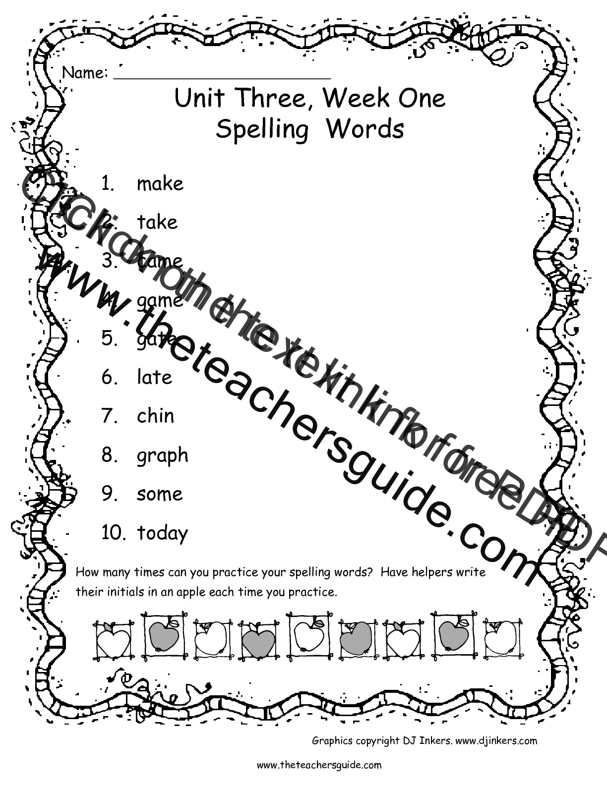 Wonders First Grade Unit Three Week One Printouts