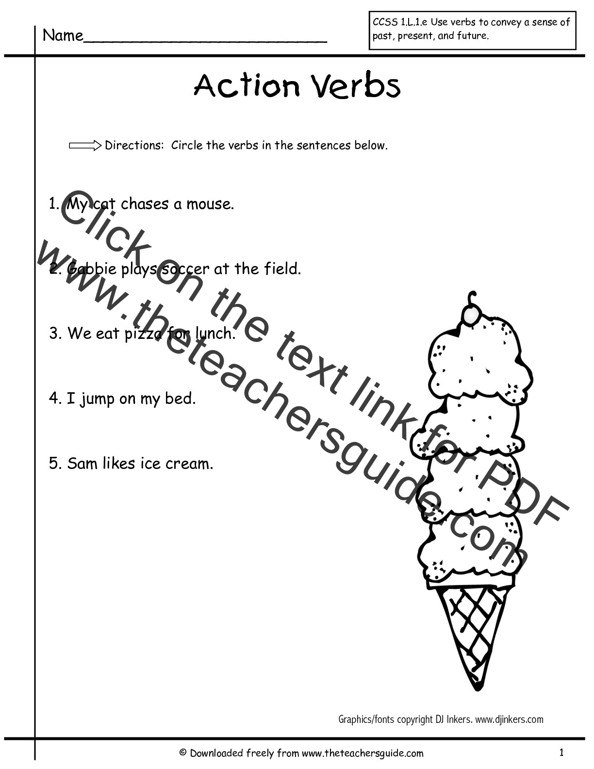 New 633 First Grade Worksheets For Verbs