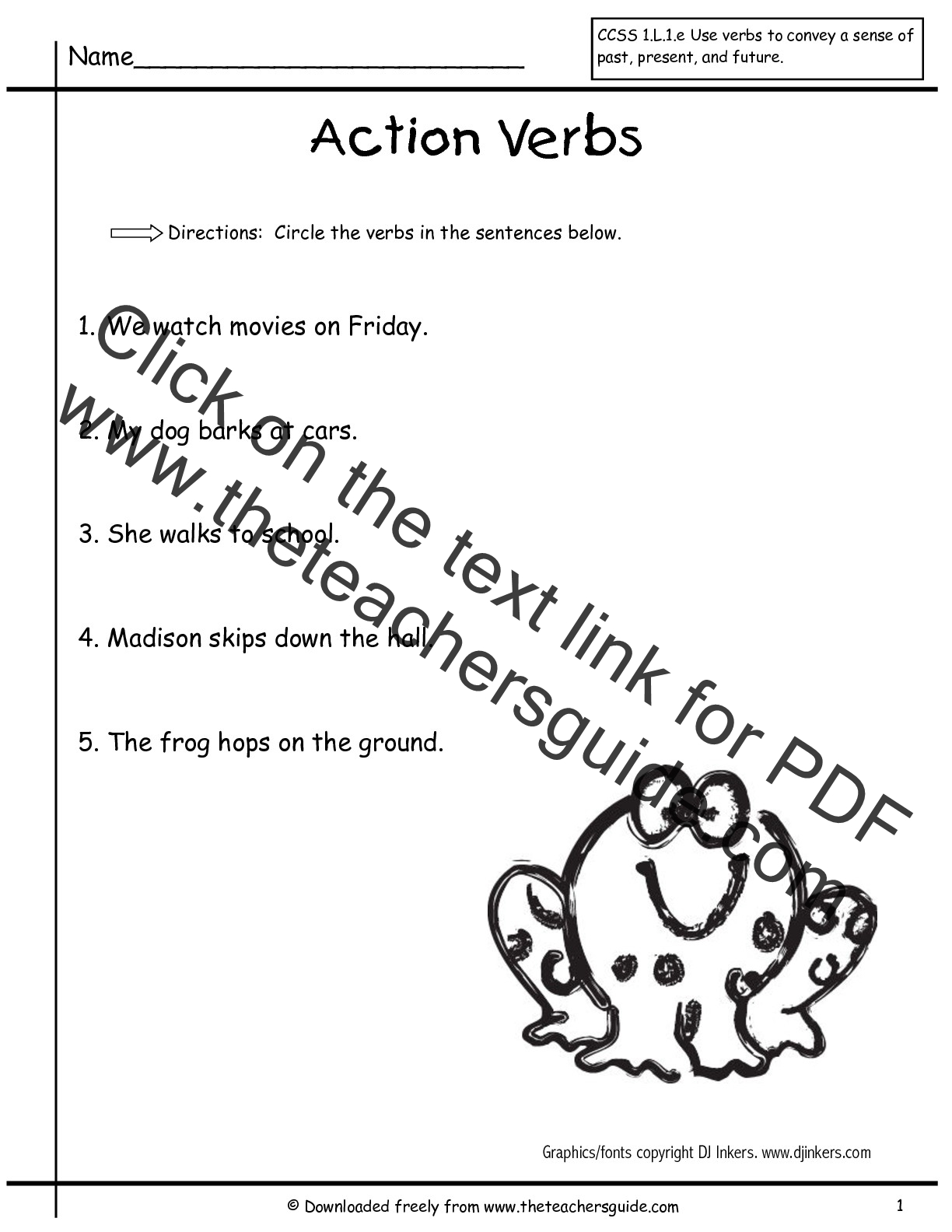 Action Verb Worksheets For Second Grade Action Best Free