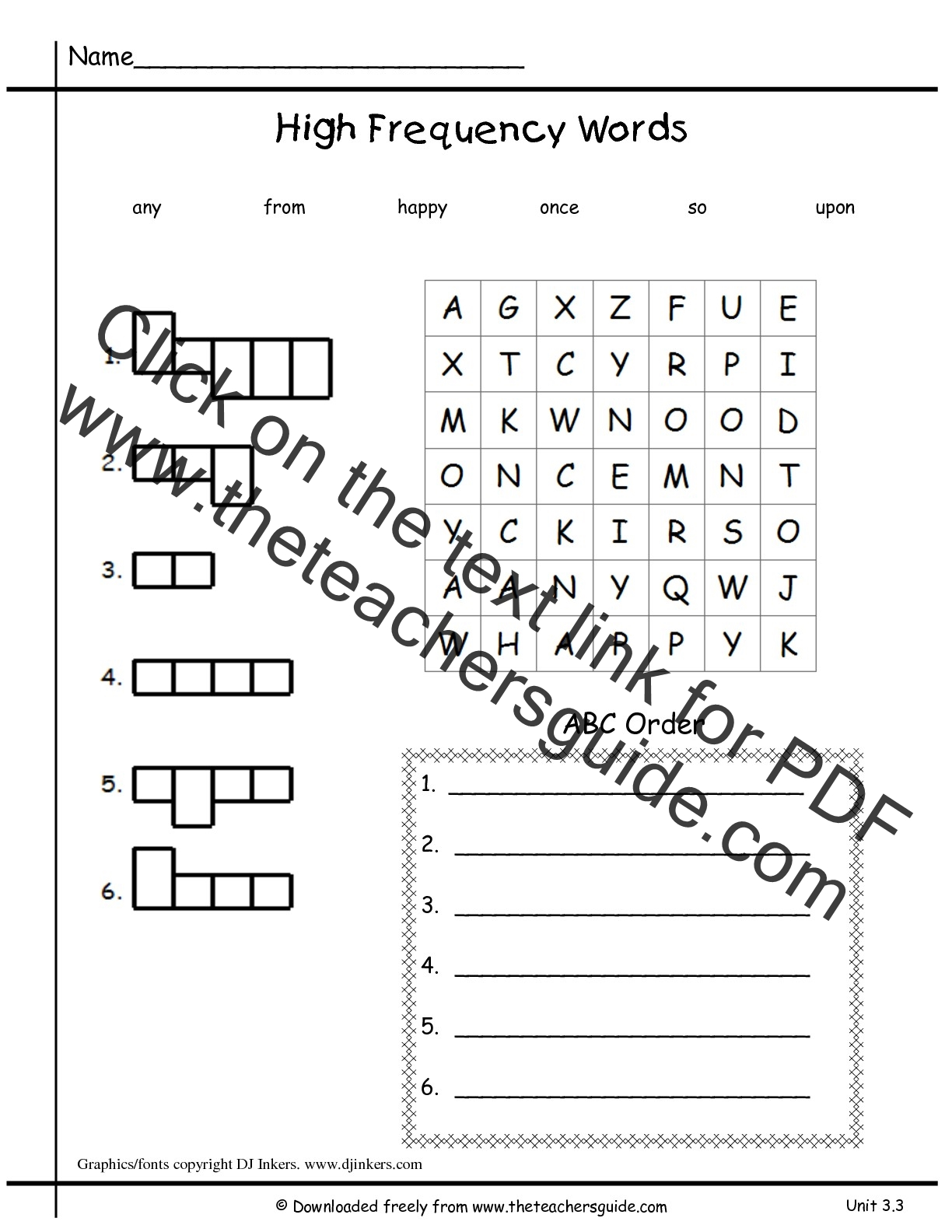 hight resolution of sight word worksheet: NEW 348 SIGHT WORD ABC ORDER WORKSHEETS