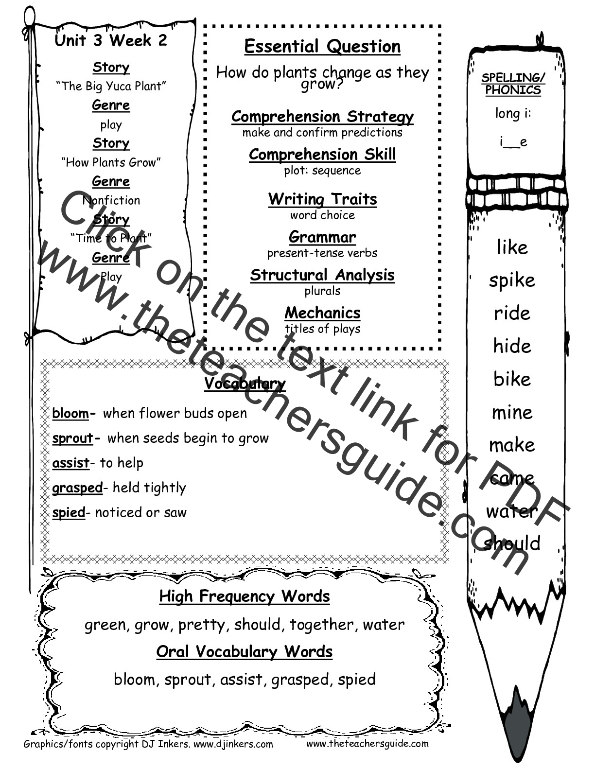 Mcgraw Hill Reading Wonders 2nd Grade Unit 2 Week 4 Worksheets