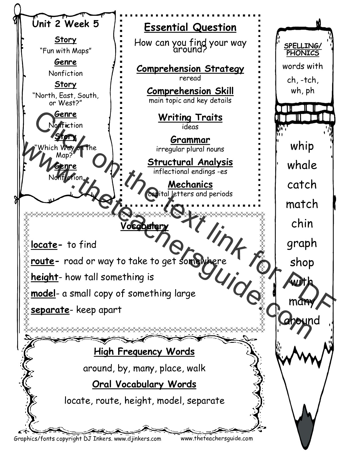 Vocabulary Grammar And Phonics Worksheet