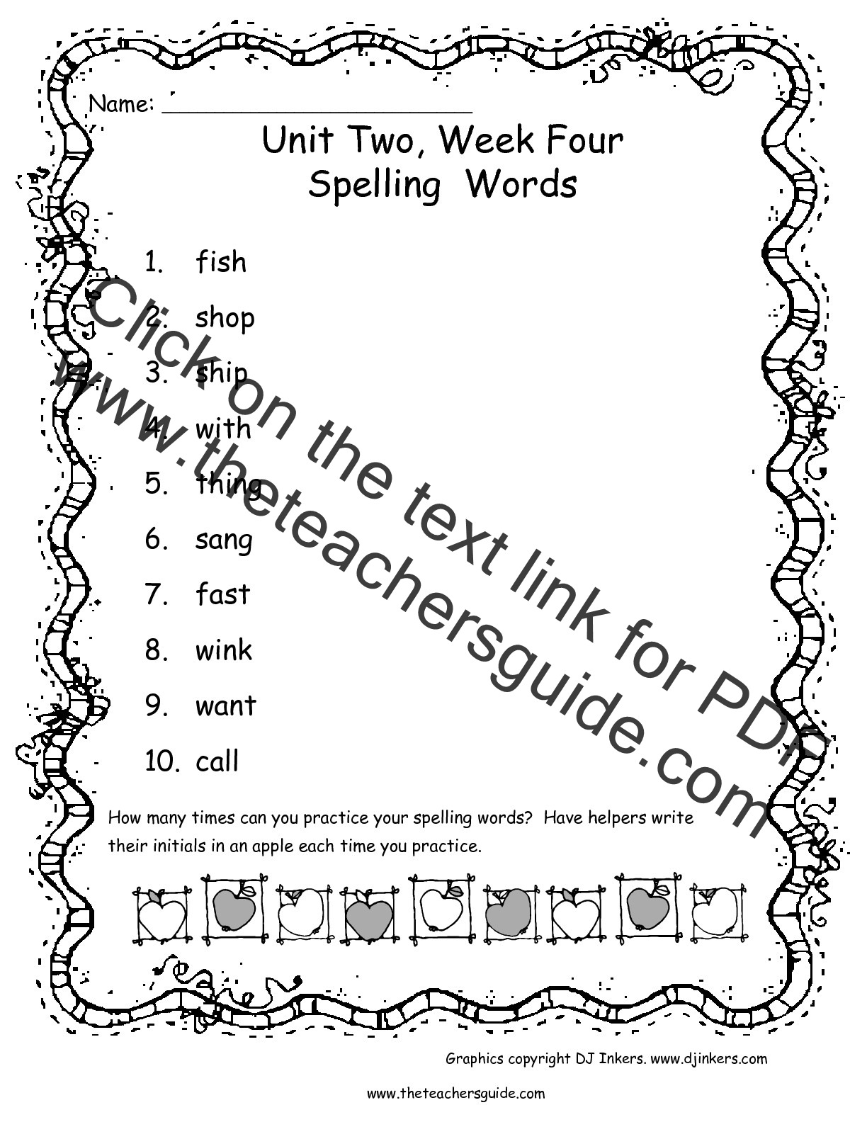 Wonders First Grade Unit Two Week Four Printouts