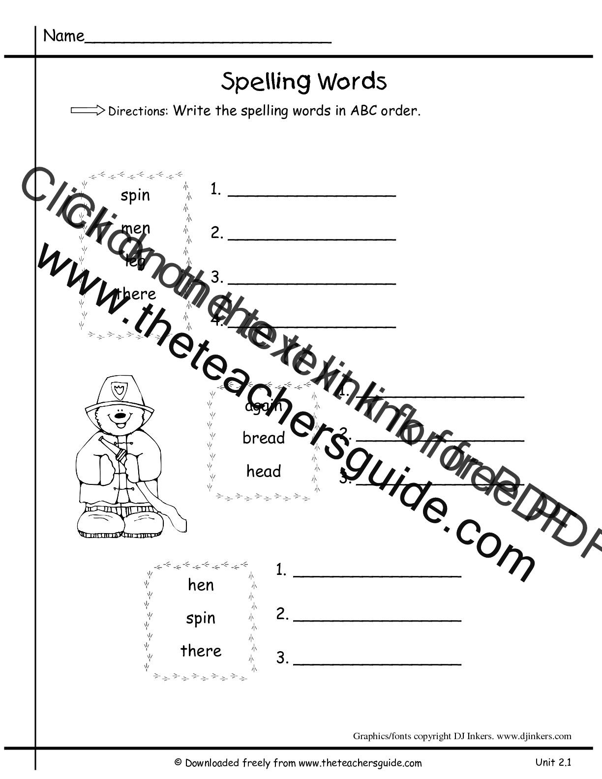 Dot To Dot Spelling Worksheet