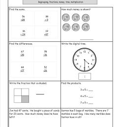 Five Minute Math Review Worksheets from The Teacher's Guide [ 1650 x 1275 Pixel ]