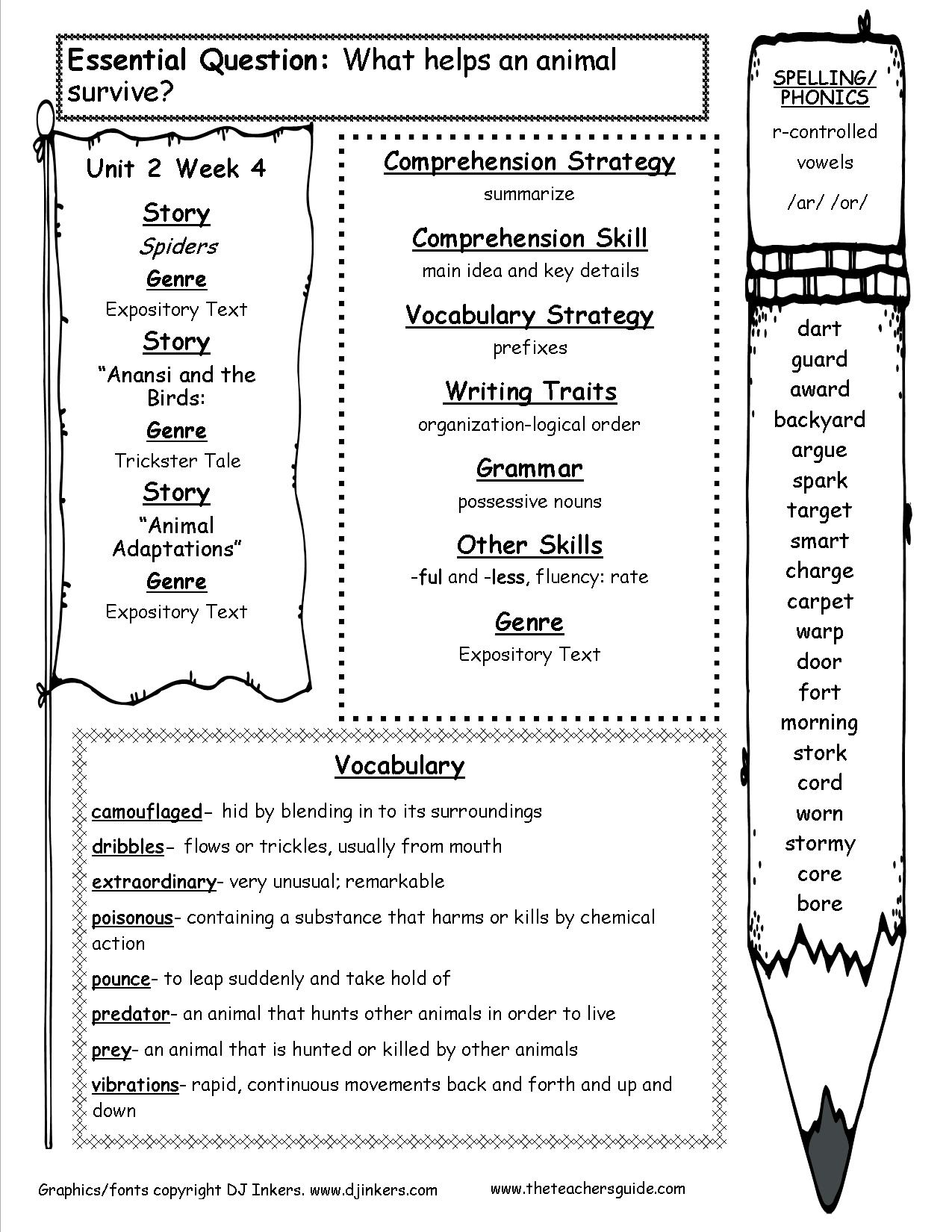 hight resolution of McGraw-Hill Wonders Fourth Grade Resources and Printouts