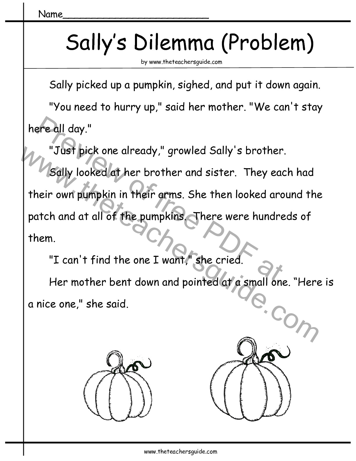 Halloween Printouts From The Teacher S Guide