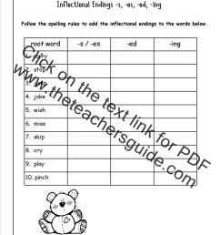 Inflectional Endings Worksheets   Printable Worksheets and Activities for  Teachers [ 1650 x 1275 Pixel ]