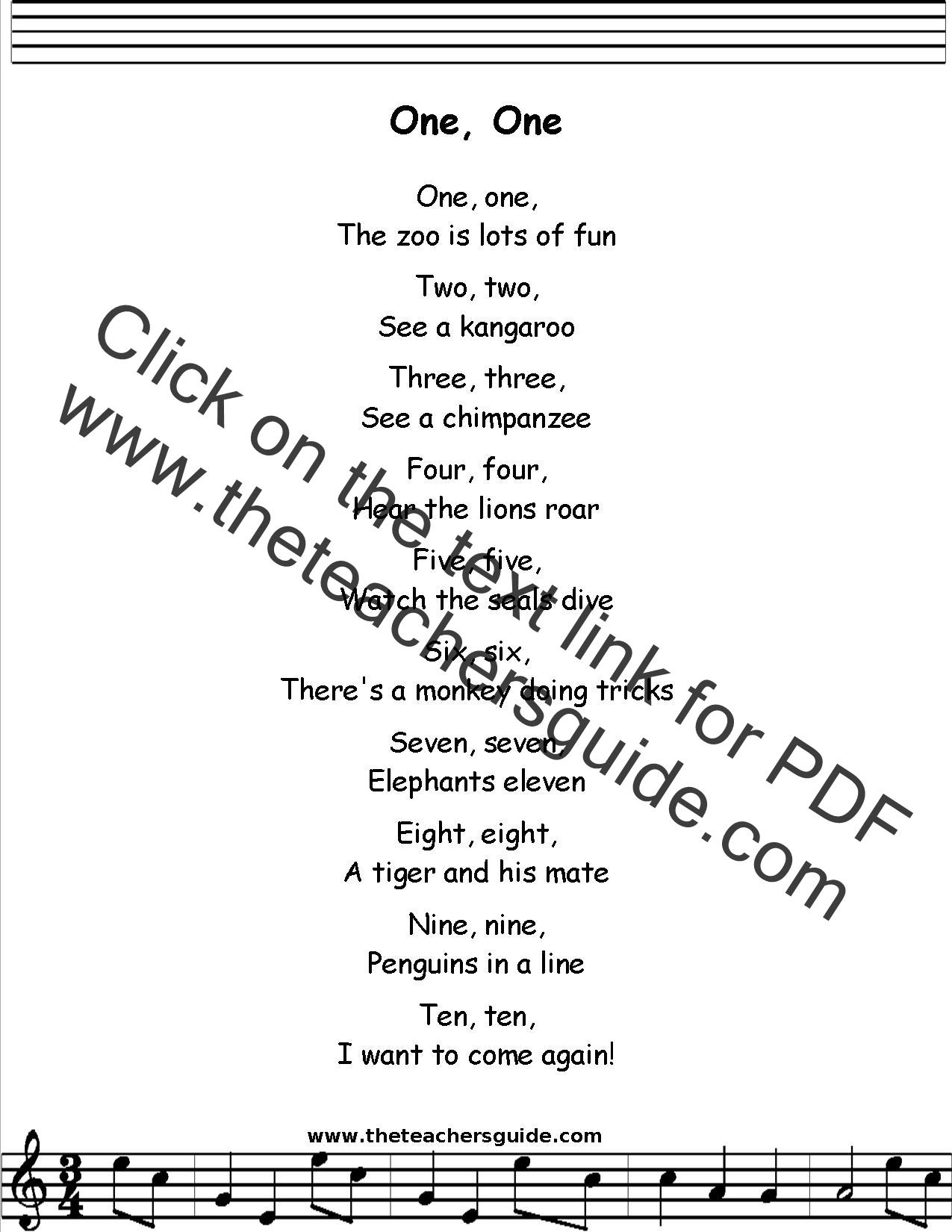 The Zoo Is Lots Of Fun Lyrics Printout Midi And Video