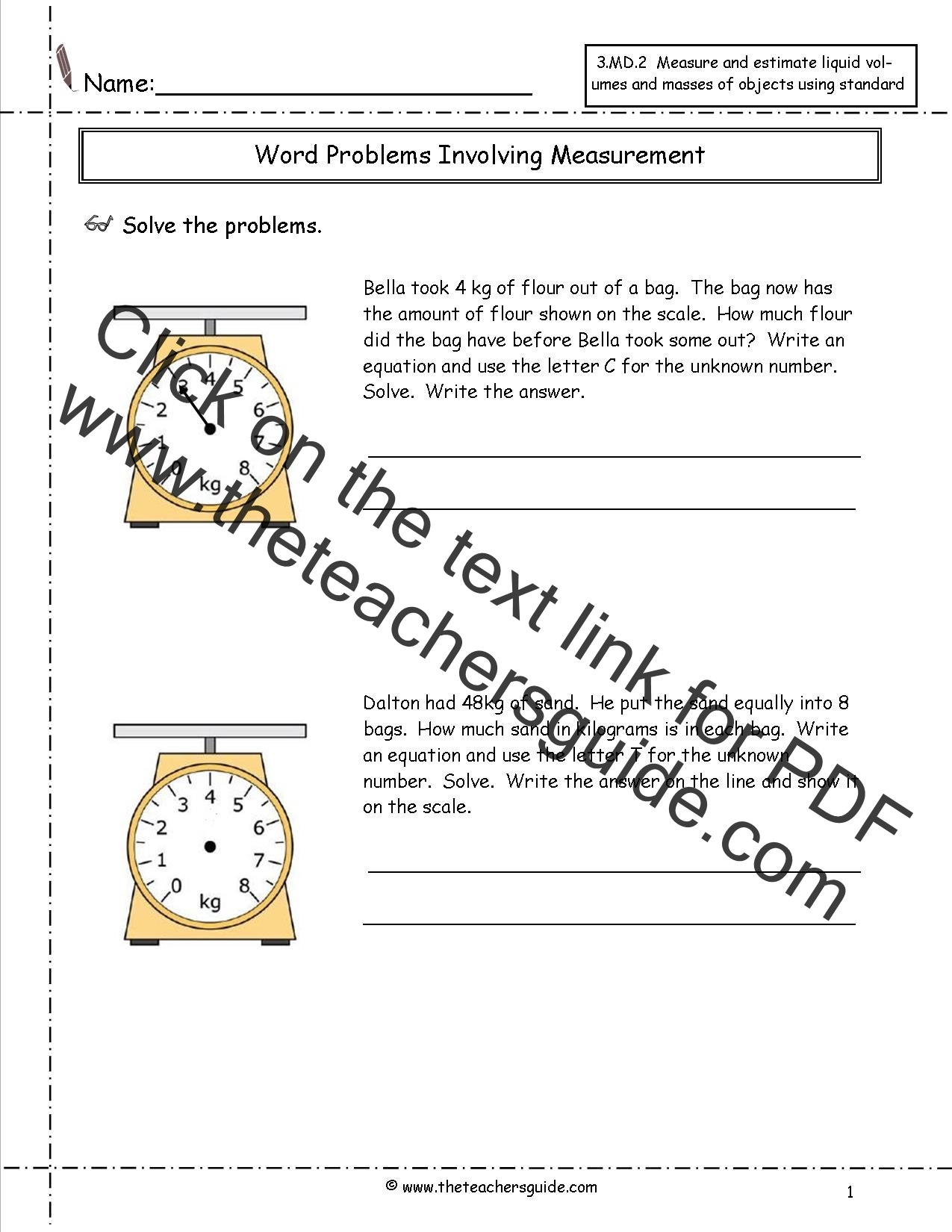 Telling Time Worksheets From The Teacher S Guide