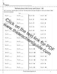 Multiplication Facts Worksheets from The Teacher's Guide