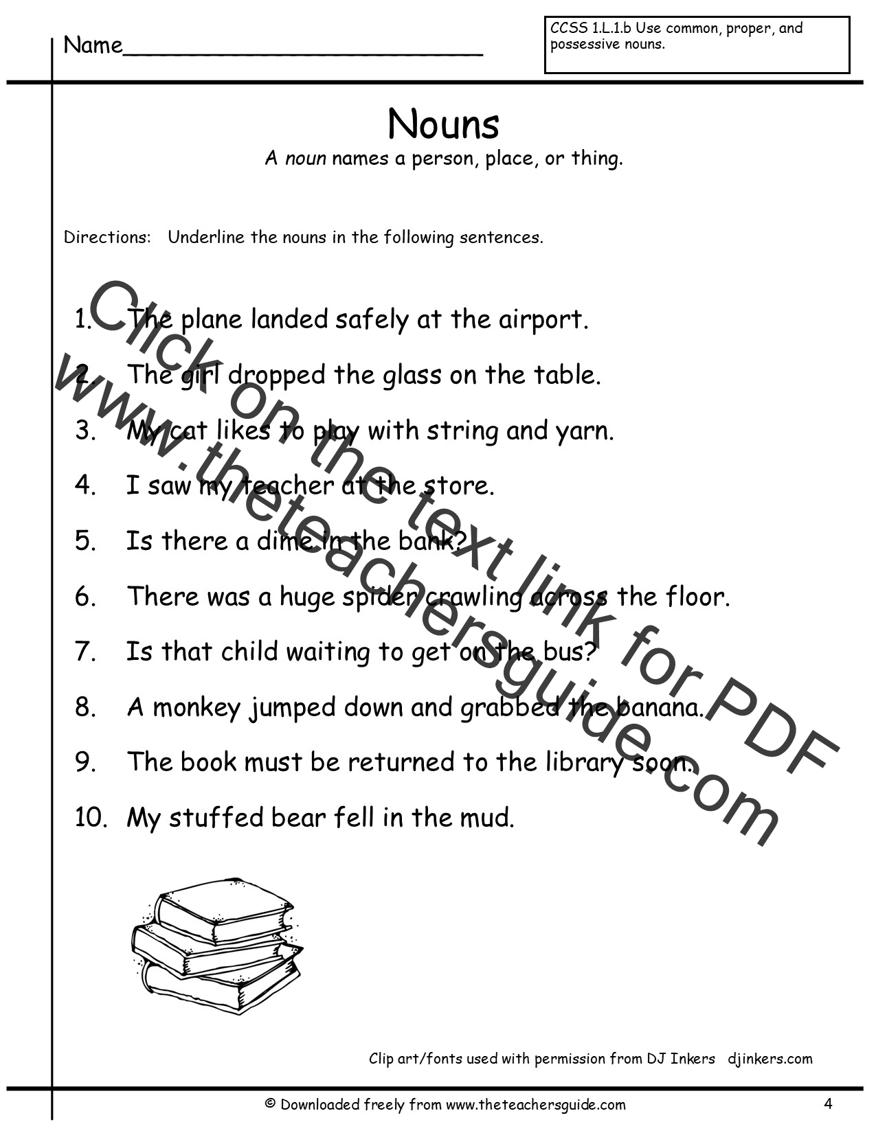 Possessive Nouns Quiz Printable