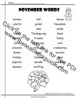 November Lesson Plans, Themes, Printouts, Crafts, and Holidays