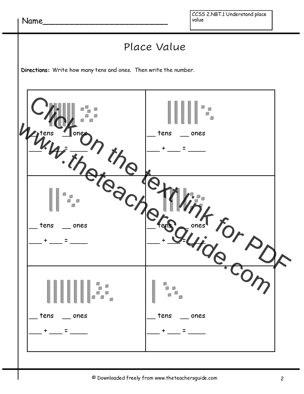 Base Ten Multiplication Worksheets