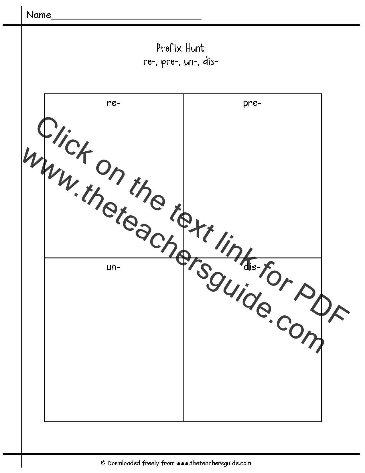 Free Prefixes And Suffixes Worksheets From The Teacher S Guide