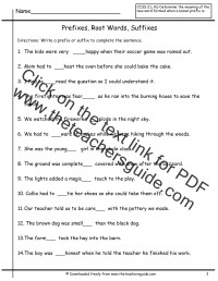 Worksheet Prefix And Suffix Worksheets For Middle School