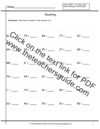 Rounding To The Nearest Ten Worksheets Free Worksheets ...