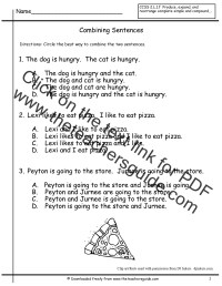 Sentences Worksheets from The Teacher's Guide