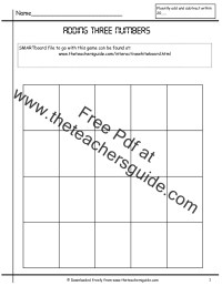 Adding Three Single Digit Numbers Worksheets from The ...
