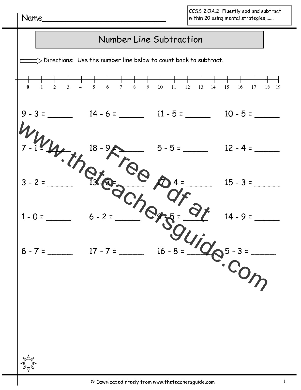 Worksheet Subtraction Within 10 Grass Fedjp Worksheet