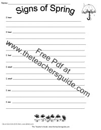 Science Worksheets and Printouts from The Teacher's Guide