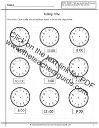 Telling The Time Worksheet - popflyboys