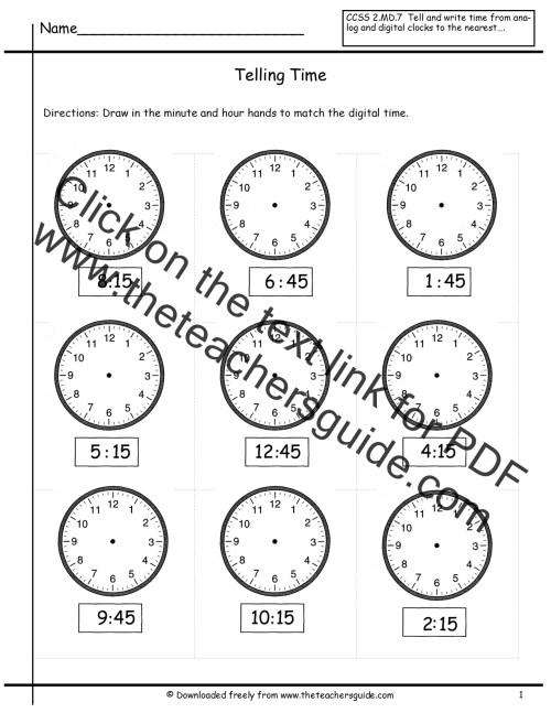 small resolution of time worksheet: NEW 659 TIME WORKSHEET QUARTER HOUR