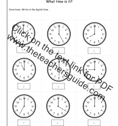 Telling Time Worksheets from The Teacher's Guide [ 1650 x 1275 Pixel ]