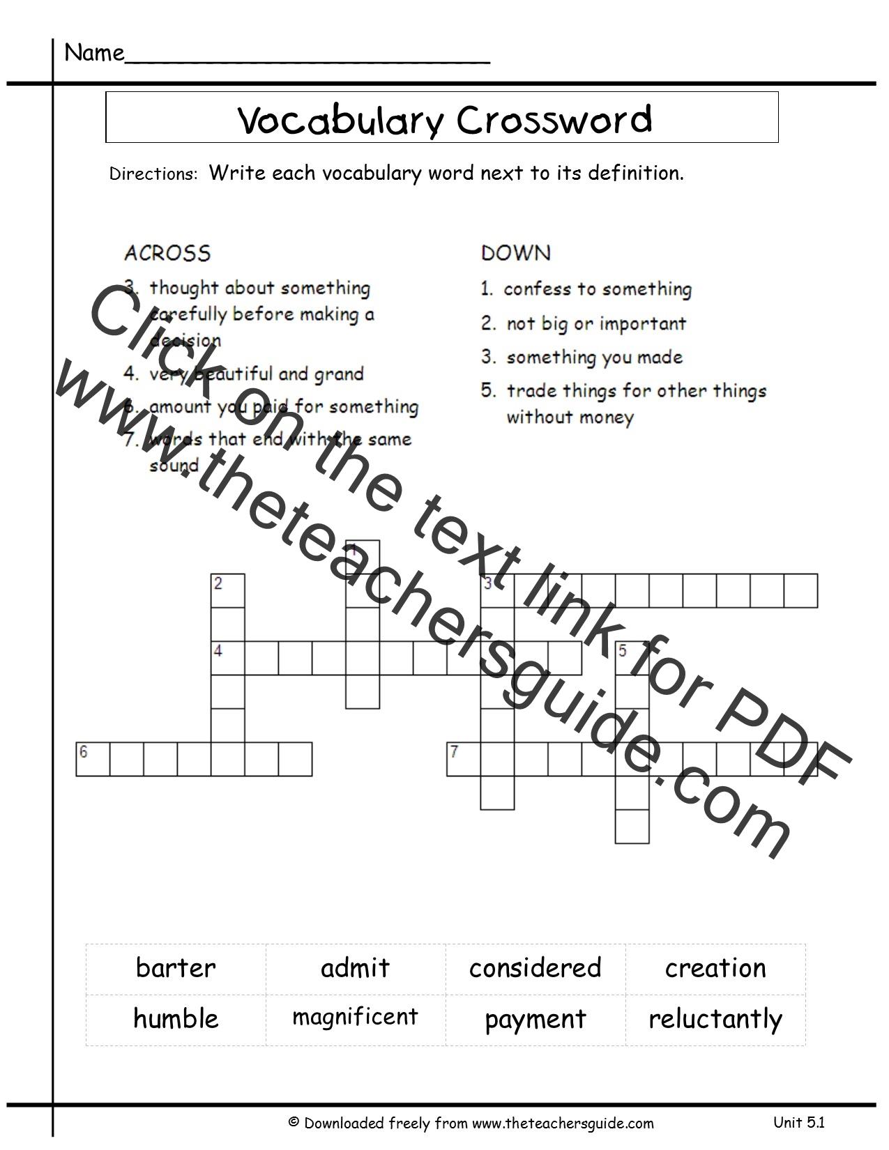 Wonders Third Grade Unit Five Week One Printouts