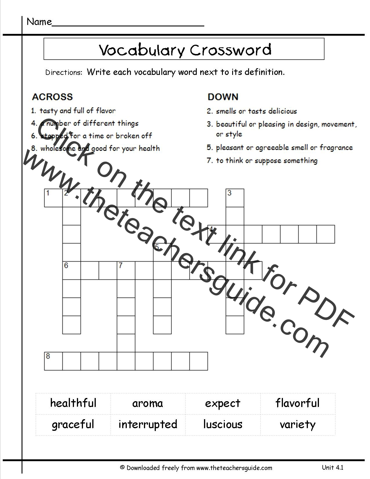 Wonders Third Grade Unit Four Week One Printouts