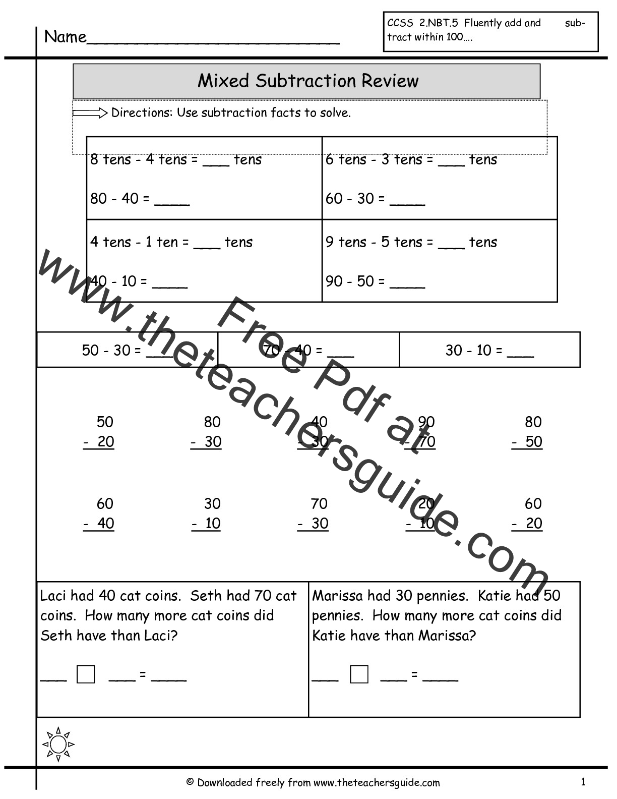 Single Digit Addition Worksheets From The Teacher S Guide