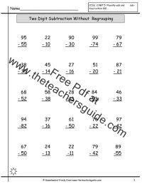 Free Math Printouts from The Teacher's Guide
