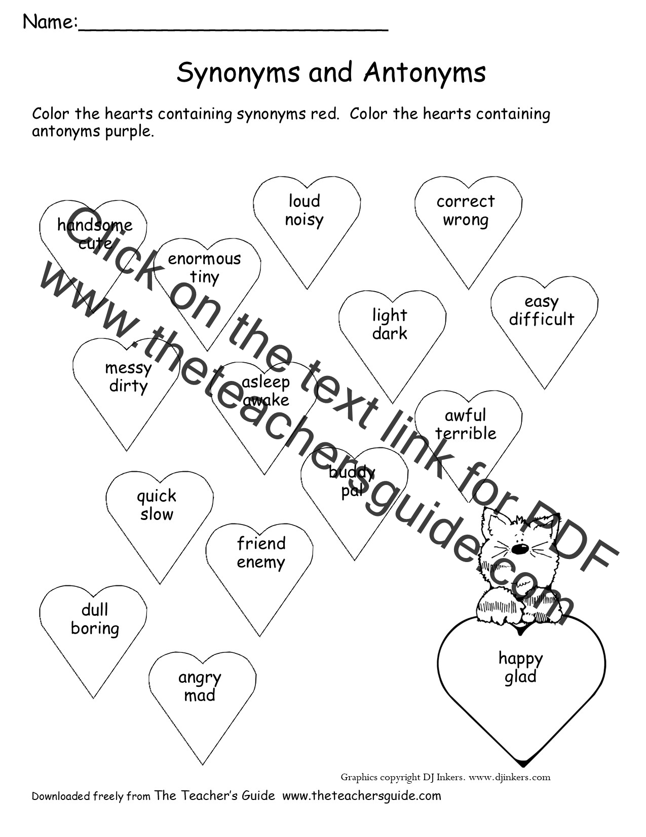 Synonyms And Antonyms For Valentine S Day Students